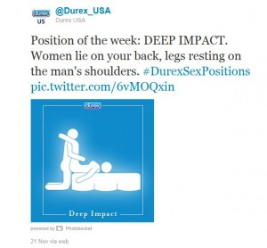 Durex Position of the Week. Now with boobs on your stick figure.
